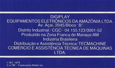 Digiplay Manual Back Cover (Initial Release)