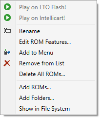 ROM List Context Menu