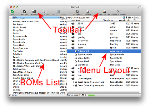 LTO Flash! User Interface Software