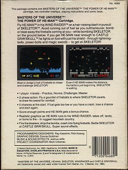 Mattel Electronics Box - Back
