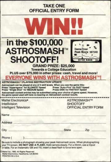 Astrosmash Shootoff Entry Form (front)