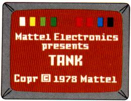 Tank Title Screen from rev. A manual
