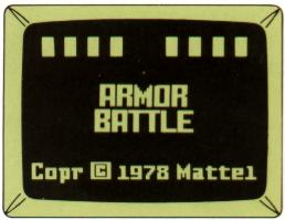 Armor Battle Title Screen from rev. B manual